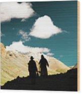 Clouds Way Kailas Kora Himalayas Tibet Yantra.lv Wood Print