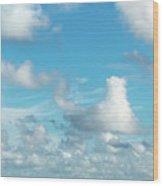 Cloudscape A Fine Day Wood Print