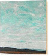 Cloudscape B Wood Print