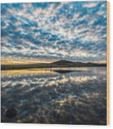 Cloudscape - Reflection Of Sky In Wichita Mountains Oklahoma Wood Print