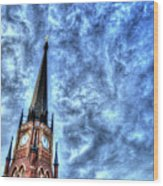 Cloudy Cathedrial Painting Wood Print