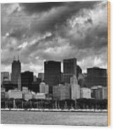 Cloudy Day Chicago - 2 Wood Print
