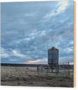 Cloudy Day On The Ranch Wood Print