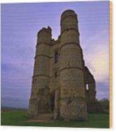 Cloudy Donnington Castle Wood Print