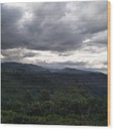 Cloudy Environment  Wood Print