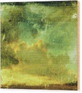 Cloudy Glass Wood Print
