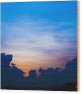 Cloudy Hedges Wood Print