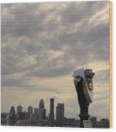 Cloudy Louisville Wood Print