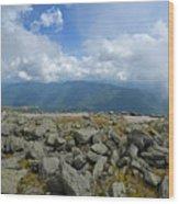 Cloudy Mount Washington Road Wood Print
