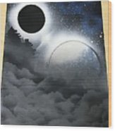 Cloudy Nite Wood Print