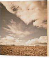 Cloudy Plain Wood Print
