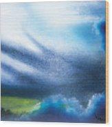 Cloudy Skies Wood Print