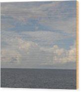 Cloudy Skys  Wood Print