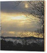 Cloudy Sunrise 2 Wood Print