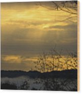 Cloudy Sunrise 3 Wood Print