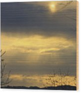 Cloudy Sunrise 4 Wood Print
