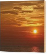 Cloudy Sunset On Lake Ontario - 27 August 2018 Wood Print