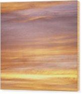Cloudy Sunset Sky Wood Print