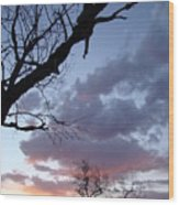 Cloudy Sunset Two Wood Print