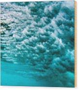 Cloudy Water Wood Print