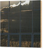 Cloudy Windows Wood Print