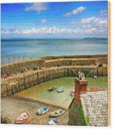 Clovelly Harbor In Devon, Uk Wood Print