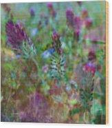 Clover Field Impressions Wood Print