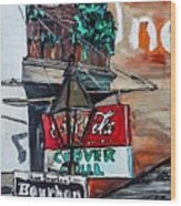 Clover Grill - New Orleans Wood Print