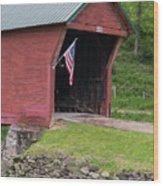 Clover Hollow Covered Bridge 01 Wood Print