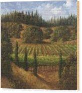 Cloverdale Vines Wood Print
