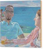 Clovis And Bethany At Tobacco Bay, Bermuda Wood Print