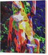 10780 Clown 3 - My Best Friend Neon Wood Print