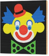 Clown Wood Print