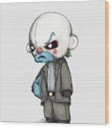 Clown Bank Robber Plush Wood Print