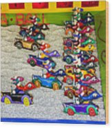 Clown Car Racing Game Wood Print