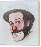 Clown Emmett Kelly Wood Print