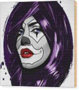 Clown Girl Wood Print