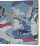 Clown Trumpet Wood Print