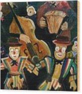 Clowns Wood Print by Pol Ledent