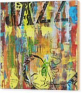 Club De Jazz Wood Print
