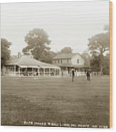 Club House And Golf Links, Old Del Monte, Monterey, California Circa 1920 Wood Print