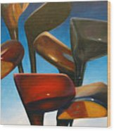 Clubs Rising Wood Print