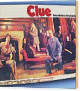 Clue Board Game Painting Wood Print