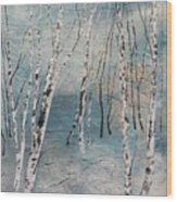 Cluster Of Birches Wood Print