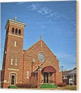 Clutier Community Center Wood Print