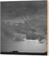 Co Cloud To Cloud Lightning Thunderstorm 27 Bw Wood Print