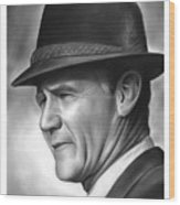 Coach Tom Landry Wood Print