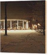 Coady International Institute Winter Night Nova Scotia Wood Print