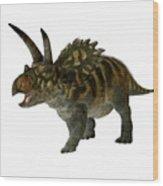 Coahuilaceratops Profile Wood Print