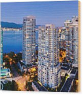 Coal Harbour In Vancouver Wood Print